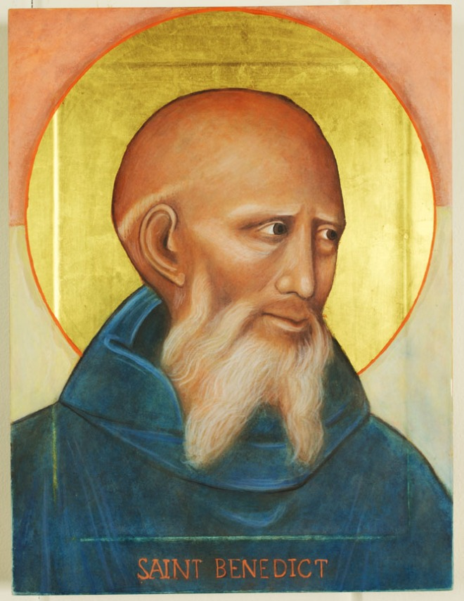 St Benedict Icon by Christine Hales