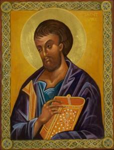 Saint Luke Icon by Christine Simoneau Hales