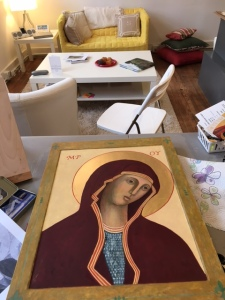 Mary Icon almost finished