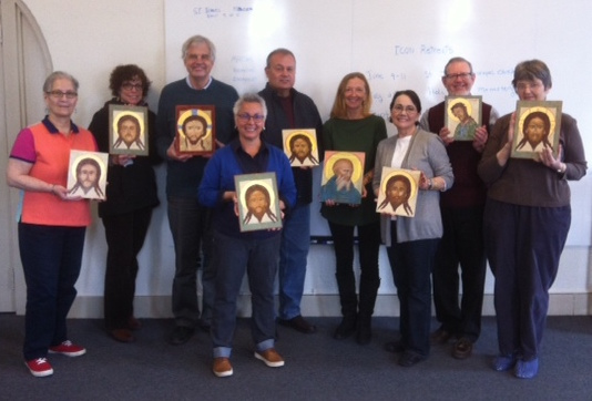 Icon writing class Christine Hales