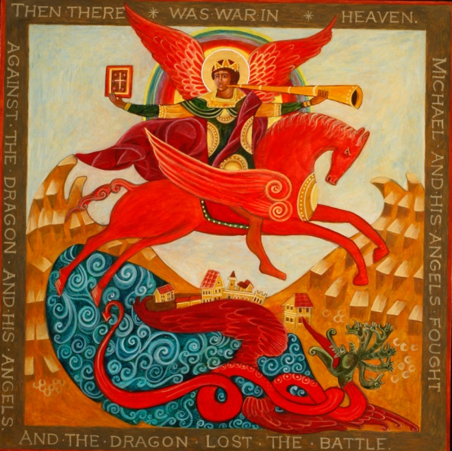 St. Michael in Battle Icon
