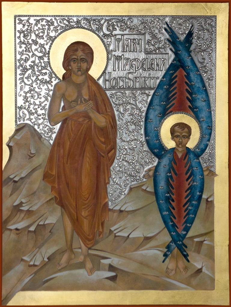 Mary and the Holy Spirit Icon