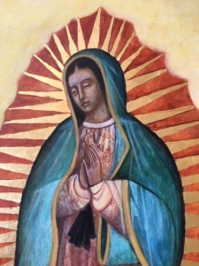 Our Lady of Guadalupe in progress