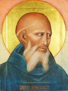 Saint Benedict Icon by CS Hales