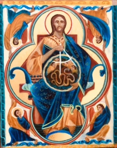 This is a new Icon of God Creator of the Universe by Master Iconographer Christine Hales