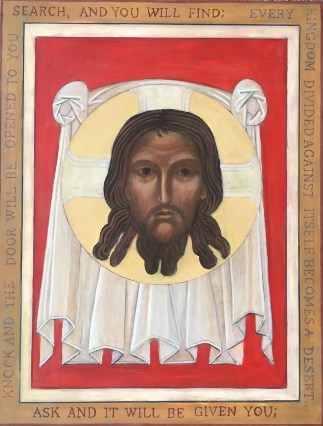 Holy Face of Christ Icon written by Christine Hales
