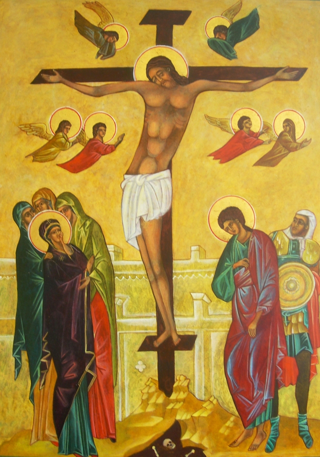 Crucifixion Icon written by Christine Hales