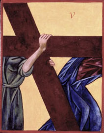 Stations of the Cross, Station Five, written by Iconographer Christine Hales