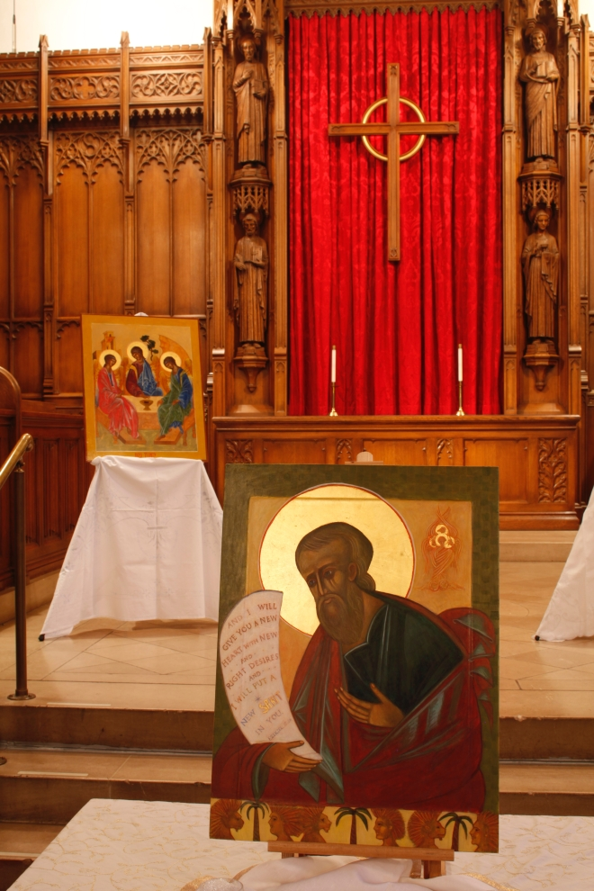 Ezekiel Icon by Christine Hales in Icon Exhibition at Westminster Presbyterian Church 2017