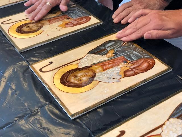 Good Shepherd Icon, Icon Painting Class, Byzantine icon