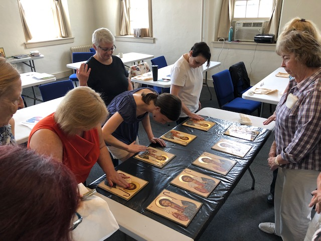 Russian icons, Icon painting retreat, modern icons