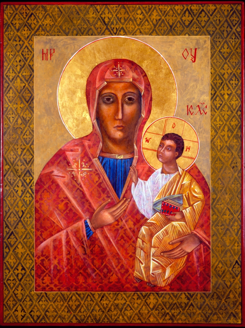 Black Madonna Icon by Christine Hales