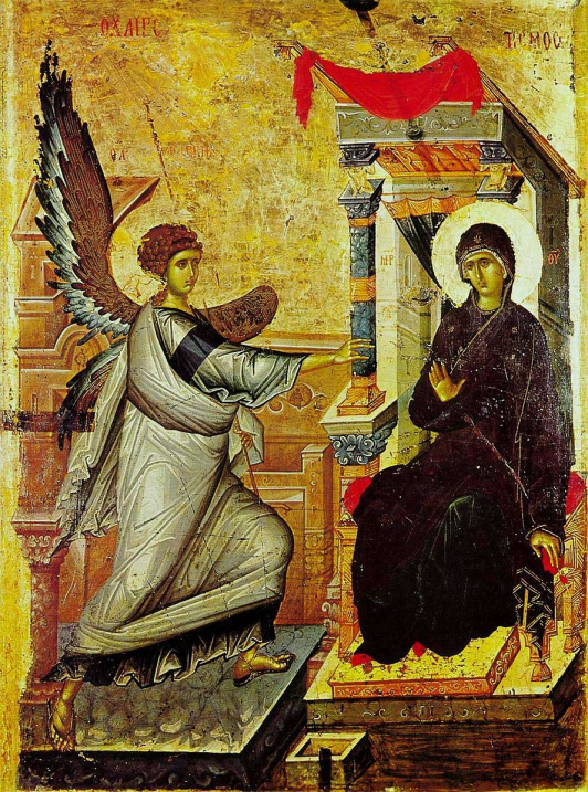 Annunciation Icon by Ohrid, 14th Century