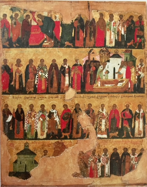 """February Saints Icon from """"Masterpieces of Early Christian Art"""", Richard Temple Gallery, photo credit: Davi Hare"""
