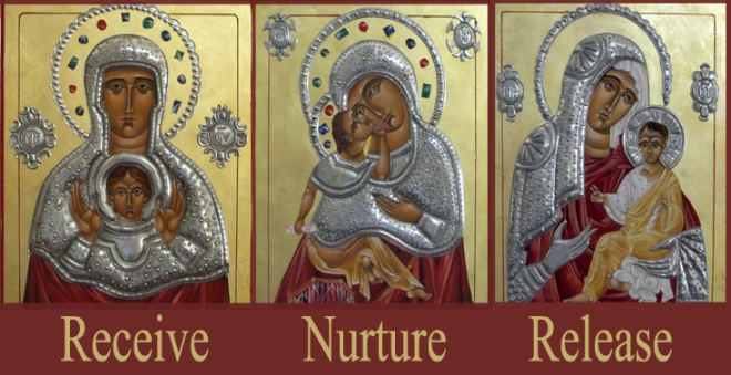 3 Mary Icons by Mary Jane Miller