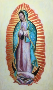 Our Lady of Guadalupe Icon by Christine Hales