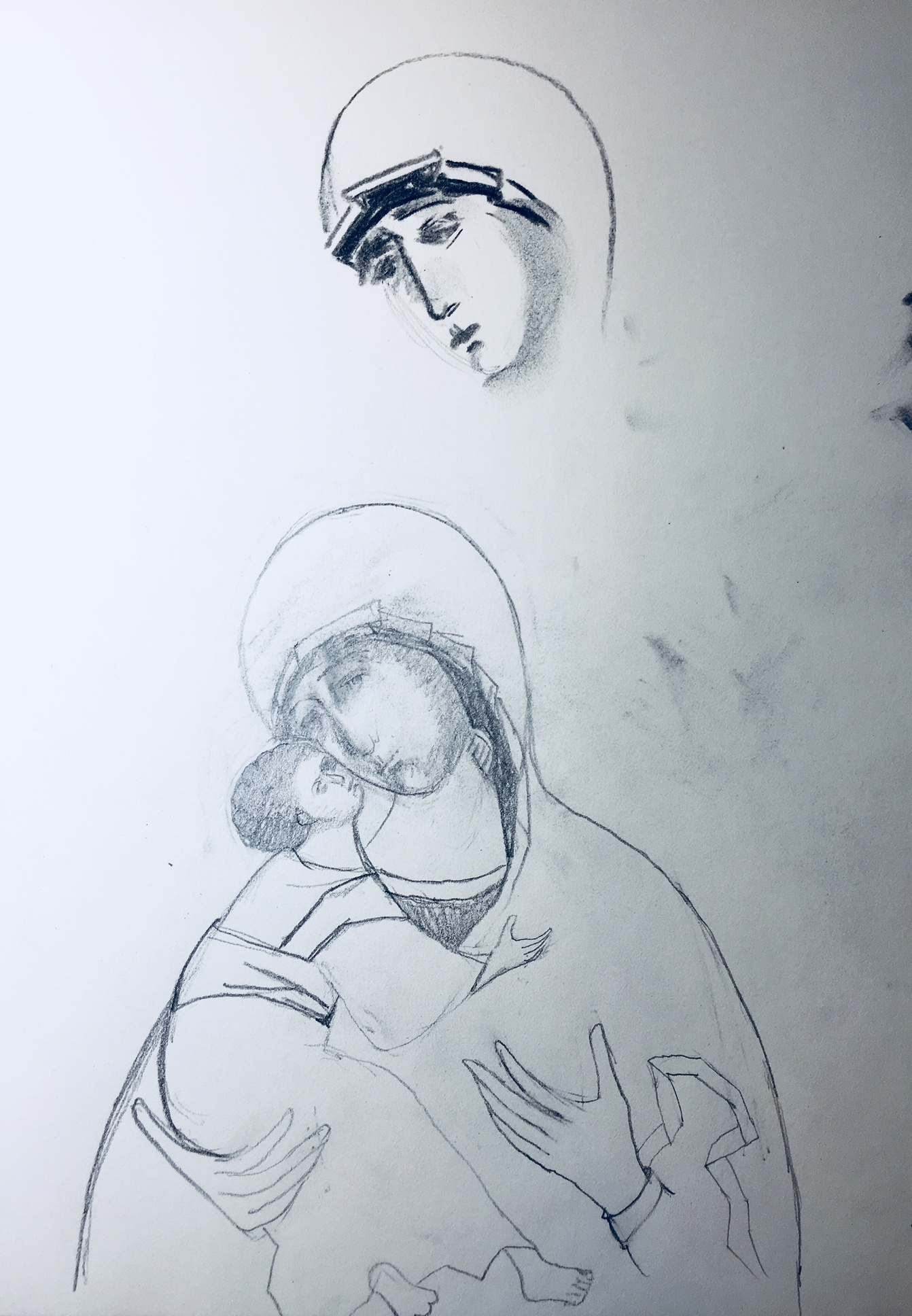 Icon Drawing by Christine Hales