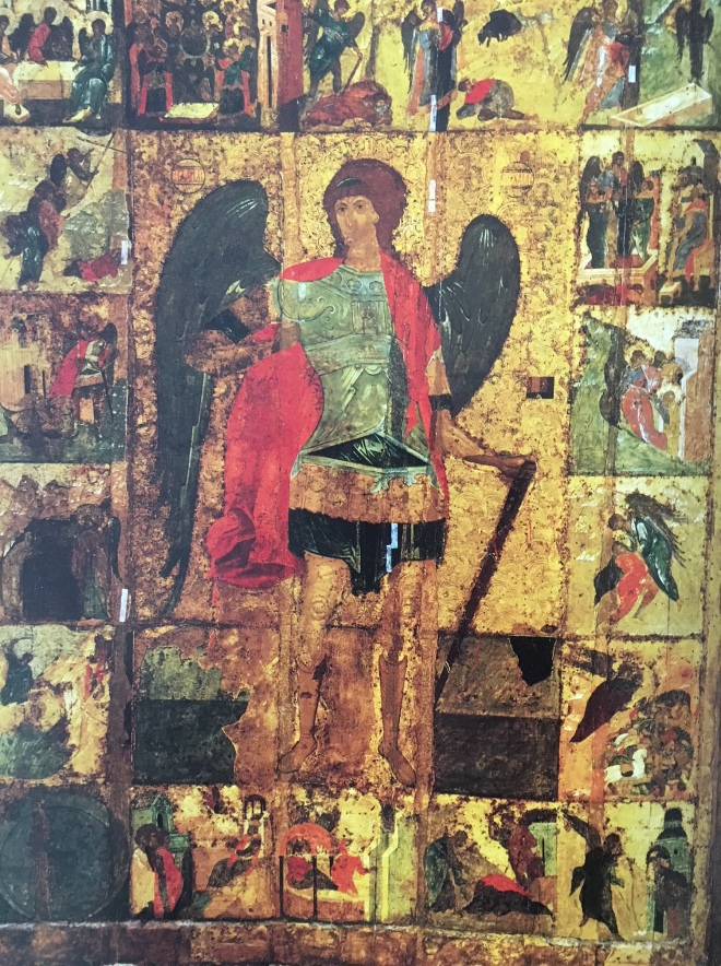 Archangel Michael Icon with Scenes from His Life