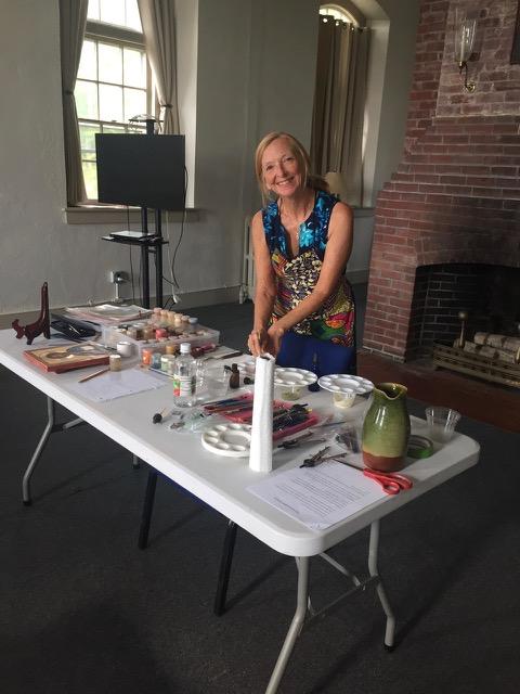 Christine Hales teaching at Holy Cross Monastery