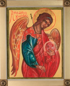 Archangel Raphael Icon by Christine Hales