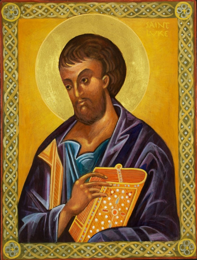 St. Luke Icon by Christine Hales