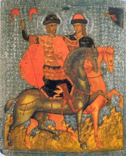 Sts. Boris and Gleb, late 14th Century, Novgorod