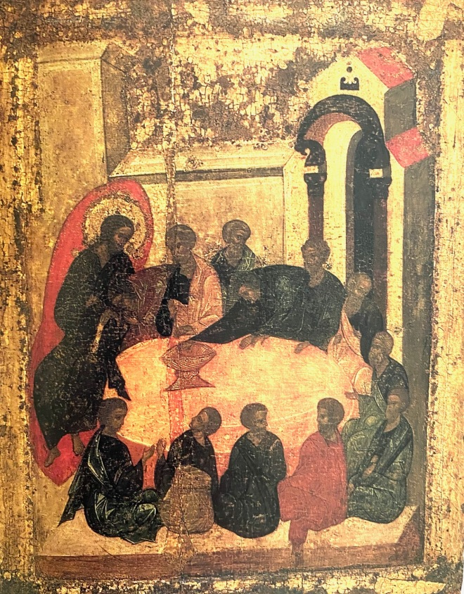 Last Supper, School of A. Rublev