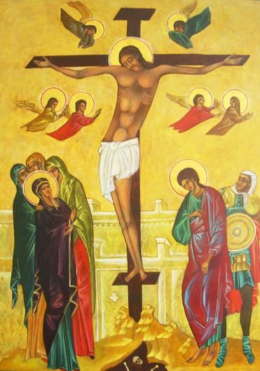 Crucifixion Icon.Christine Hales